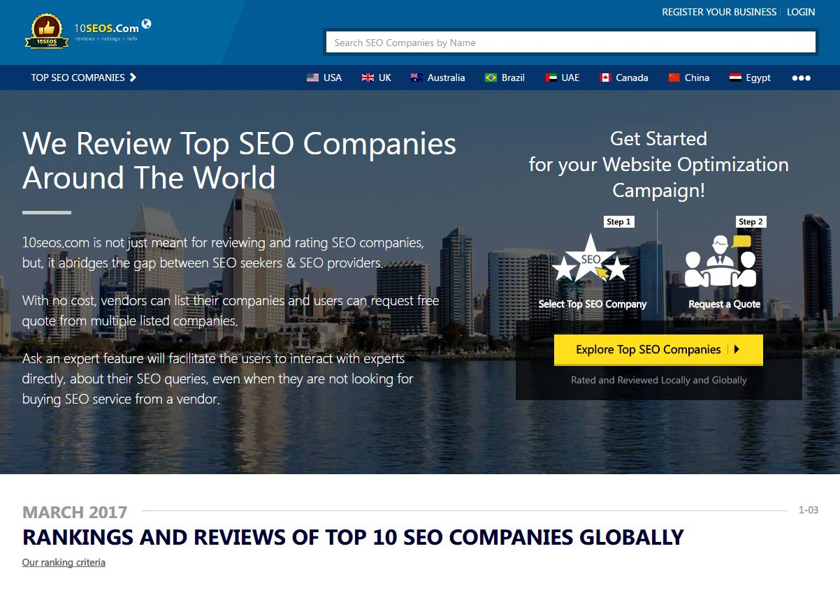 Top 10 SEO Company, Agencies And Firms Globally | September 2017